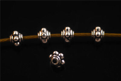80pcs Jewelry Findings Making Crafts Metal Beads Spacer Charms 4x5mm