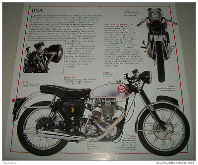 1960 BSA Gold Star motorcycle print