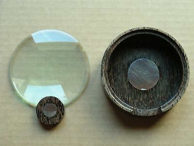 Wood With Sterling Silver Magnifying Glass And Base Holder, Thailand