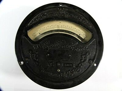 Antique Large WESTON VOLTMETER No 64445  -150 to +150 Volts – Untested