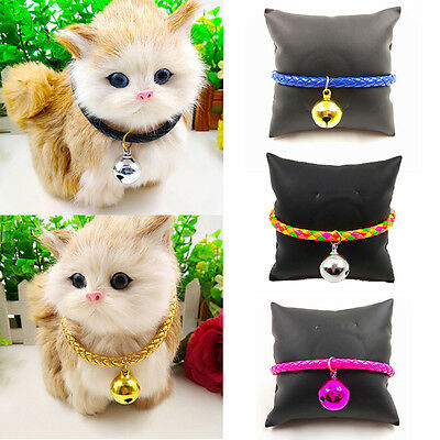 Cute Pet Collar Bells Small Dog Puppy Cat Necklet Buckle Neck Strap