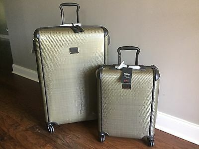 Tumi TEGRA LITE Fossil Packing Case Carry On Hardside Luggage Lot Of 2 $1490