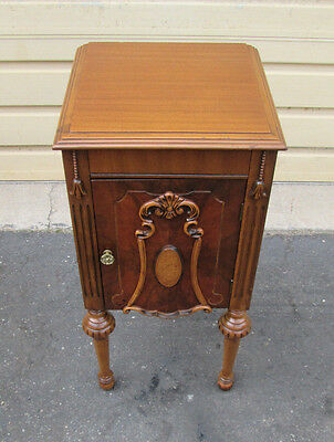 58213 Antique Walnut Nightstand End table Stand