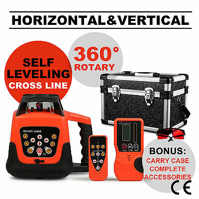 Rotary Laser Level Red Beam Self-Leveling Electronic 5 Degree Remote Control