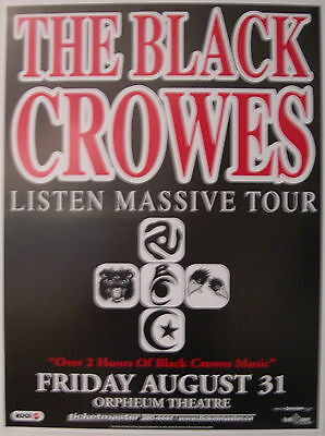The Black Crowes Concert Poster 2001 Greatests Hits