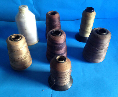 Lot 7 Vintage American Thread Co & More Large Thread Spools Cardboard & Plastic