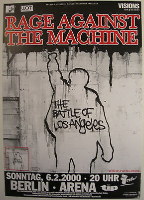 Rage Against The Machine Concert Tour Poster 2000 The Battle Of Los Angeles