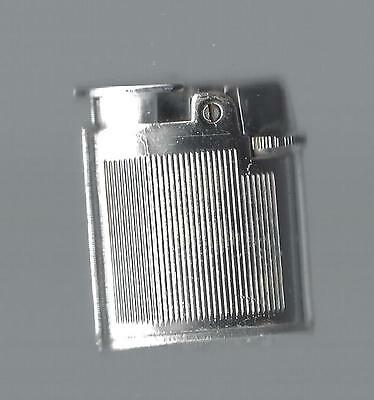 Vintage Ronson Varaflame Petite Butane (gas) Lighter, Silver Finish Sparks Well
