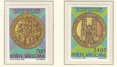 VATICAN CITY 1987 Set of 2 Mint Unhinged