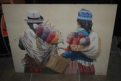 Native American watercolor painting, New Mexico, on foamboard, 25.5x20, artist?