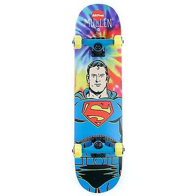 "Almost Skateboard Complete DC Comics Superman Tie Dye 7.75"" Mullen Hero"
