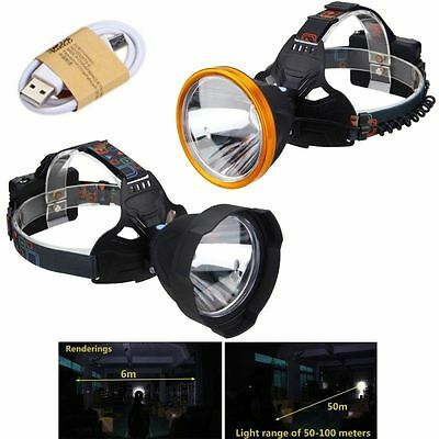 Rechargeable 8000Lm XM-L T6 LED Headlamp Headlight 103mm Lens Head 18650 Torch