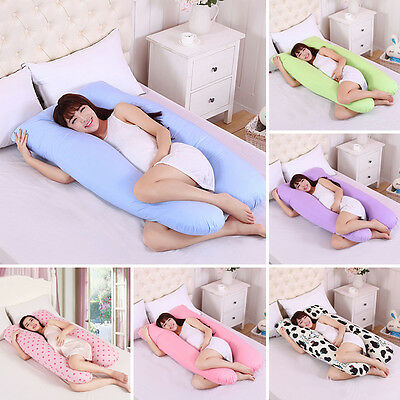 Maternity Body Pillow Case U~Shape Printing Pregnant Women Lady Sleepers Pillow
