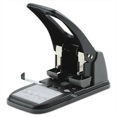 "Swingline Extra Heavy-Duty Two-Hole Punch, 9/32"" Holes, Black/Gray A7074190"