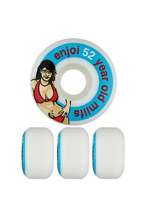 Enjoi Skateboard Wheels Milf 52mm 99a New FREE POST
