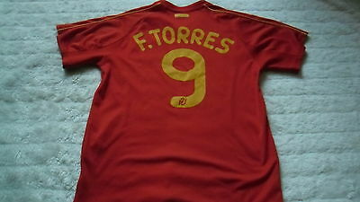 Spain Home Football Shirt No.9 F. Torres Age 14 Years Must L@@k!!!