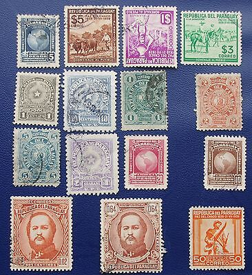 PARAGUAY - Early Collection of Used & MH Stamps