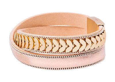 Tamaris Lexy Leather Bracelet Armband Accessoire Gold / Gold Metallic Gold Beige