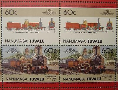 1846 Furness Railway COPPERNOB 0-4-0 Train 50-Stamp Sheet (Leaders of the World)
