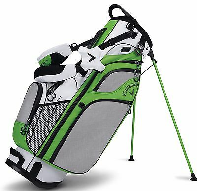 Brand New 2017 Callaway Golf Fusion 14 Stand / Carry Bag - White / Green / Black