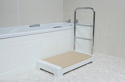 "Spa 4"" Bathroom Step - With Hand/Tower Rail"