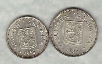 1956H Finland Silver 200 Markkaa In Near Mint Condition
