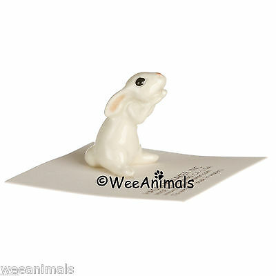 Hagen Renaker Honey Bunny Rabbit White Miniature Figurine Wee Animal 32261