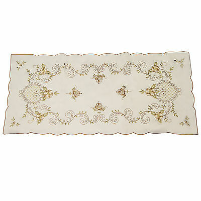 Traditional & Vintage Table Runner / Tray Cloth – Coffee 16x36