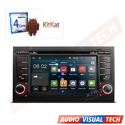 Android 4.4 Car Auto Radio GPS Sat Navigation Multimedia DVD Player for Audi A4