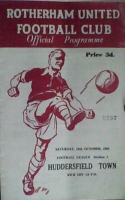 ROTHERHAM UNITED v HUDDERSFIELD TOWN  63-64 LEAGUE MATCH