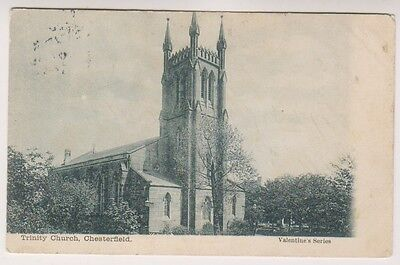 Derbyshire postcard - Trinity Church, Chesterfield
