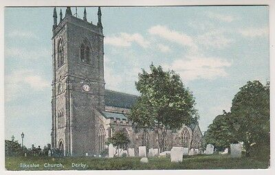 Derbyshire postcard - Ilkeston Church, Derby