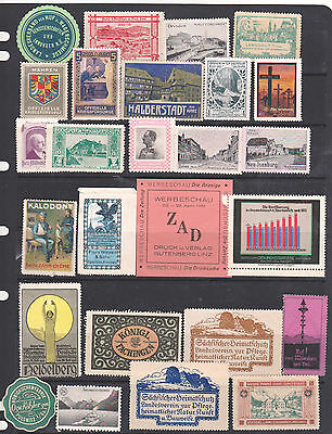 Poster Stamps, A Collection Of 26 German Labels