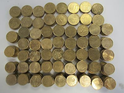 60 Euros in 10 20 & 50 Cent Coins - Holiday Spending Money / Change - MAG P23