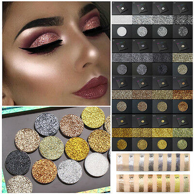 16 Colors Shimmer GLITTER Eyeshadow Pressed Powder Pigment Eye shadow Eye Makeup