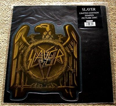 """Slayer -  Seasons in the Abyss  7"""" Shaped Picture Disc Vinyl"""