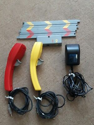1:64 Scale Micro Scalextric Transformer and  controllers