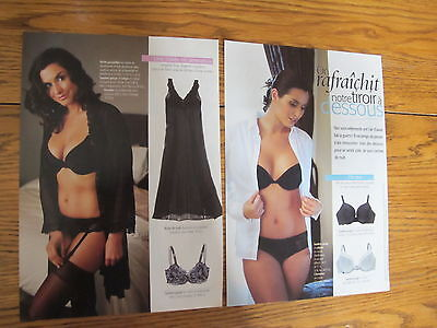 2 Lingerie Print Ads,clippings 09