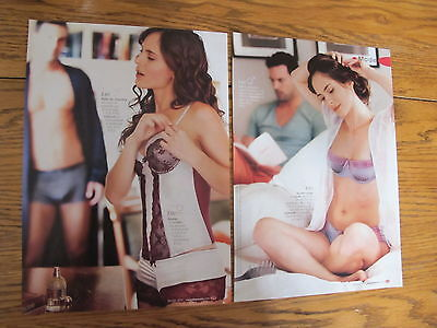 2 Lingerie Print Ads,clippings 2010