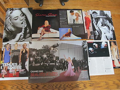 Sharon Stone Nice  French Us Clippings.