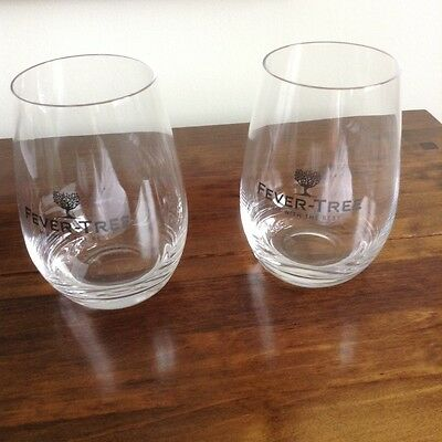 Pair of new Fevertree glasses in Dartington Crystal