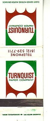Matchbook Cover ! Turnquist Paper Company !