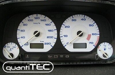 Plasma Tacho Speedometer Dial Set VW Golf 3 Vento 20-220 KM/H White Blue NEW