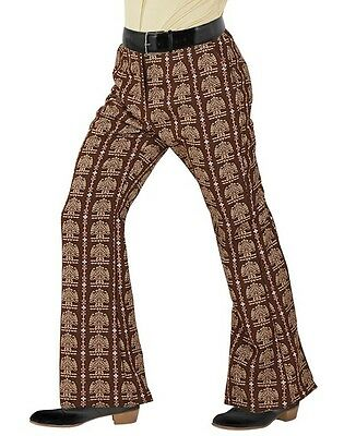XL 60/'s 70s Retro Disco Flare Trousers Discs Men/'s Fancy Dress  S