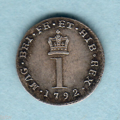 Great Britain.  1792 George 111 - Silver Penny.. gEF