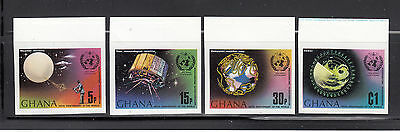 Ghana 1973 UN Weather IMPERF Sc 503-506 Complete mint never hinged
