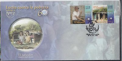 El Salvador 2005 America Poverty Sc 1634-1635  First Day Cover