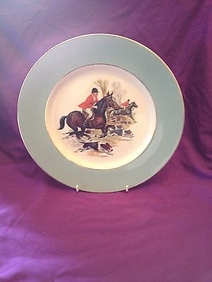 "Harry Hancock hunting scene 10.5"" collectors plate Made by Grindley and Co"