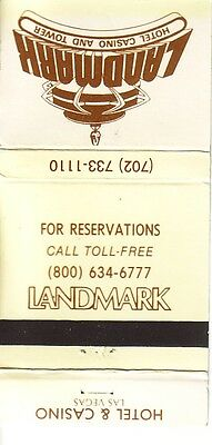 Matchbook Cover ! Landmark Hotel & Casino, Las Vegas, Nevada !