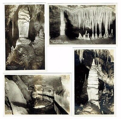 Old Cave Postcards The Jenolan Caves N.s.w Australia Real Photos Vintage 1920S